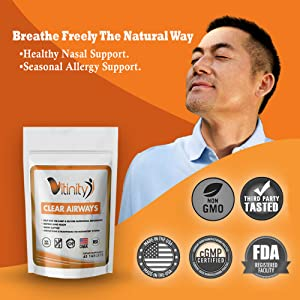 Lung Health Supplement Vitinity Lung Cleanse Vitinity Clear Airways Ultimate Lung Detox