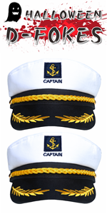 Navy Marine Admiral Style Hat Adjustable Ship Sailor Cap Yacht Boat Captain Hat for Men Costume Favo