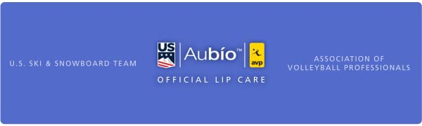 Aubio the official lip care of the US Ski Team and Association of Volleyball Professionals (AVP)