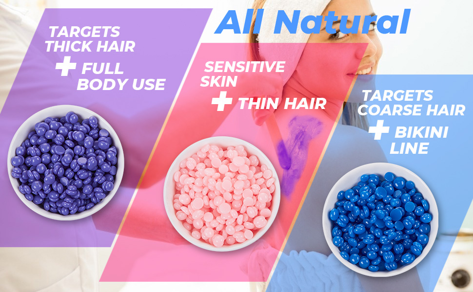 waxing beads for coarse hair removal sensitive skin