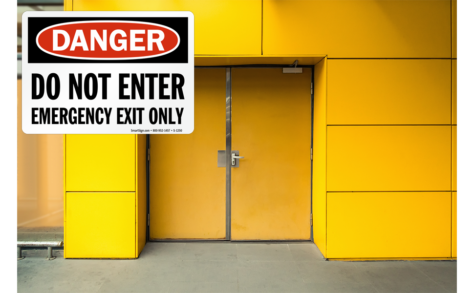 Do Not Enter Emergency Exit Only