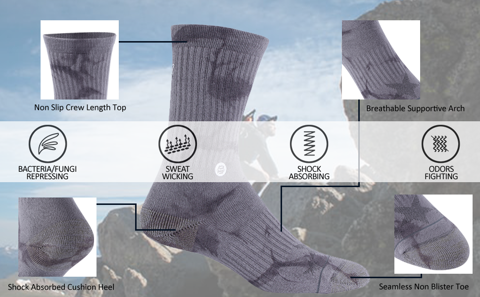 outdoor hiking military copper socks