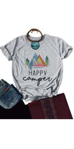 Happy Camper Letter Tees