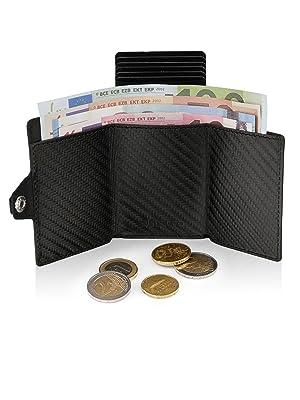 astuccio custodia porta carte credito protezione rfid wallet piccolo