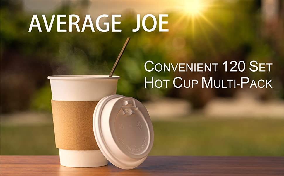 coffee cups with lids Average Joe cups lids coffee disposable