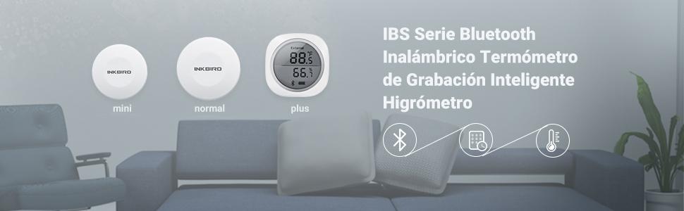 IBS-TH1 Plus Registrador de temperatura y humedad