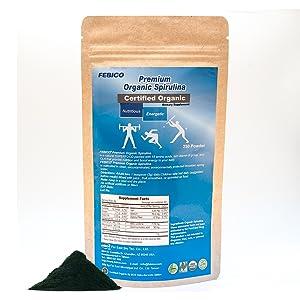 organic spirulina powder superfood immune support supplements