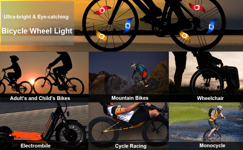32LED DIY BICYCLE LIGHT BIKE WHEEL SPOKE LIGHT CYCLING TIRE SIGNAL LAMP SUPREME