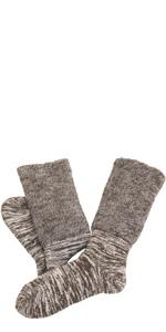 内絹外綿 2重編み靴下