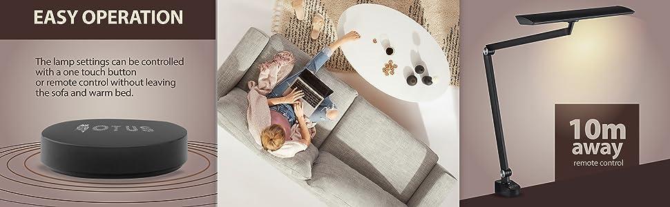 architect desk lamp clamp arm desk light led adjustable lighting desktop remote control tall task