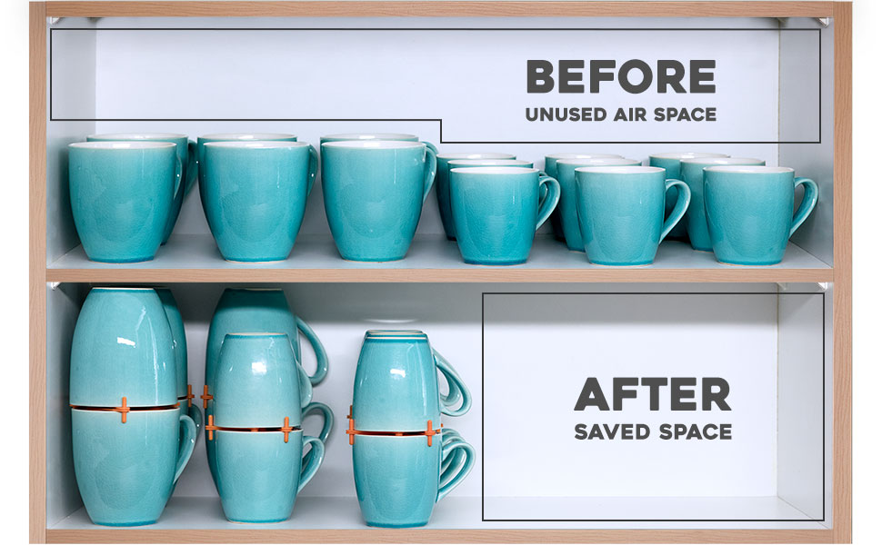 Mug Stacker home narrow counter board turner cupboard stackable shelves elypro mugs cups adjustable