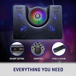 KLIM Nova, laptop cooler, RGB laptop cooler, laptop fan, RGB laptop fan, gaming cooler, gaming
