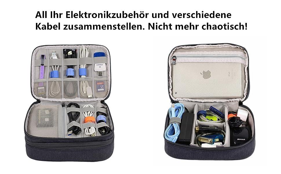 Amatory Kabel Organizer Tasche Elektronische Computer Zubehör
