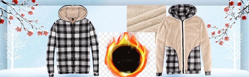 Hoodies for Women Heavyweight Fleece Sweatshirt - Full Zip Up Thick Sherpa Lined Jacket Cardigan