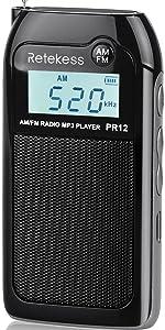 pocket radio AM FM radio