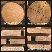 log end checking, lumber end checking, deck end sealer, ipe end sealer