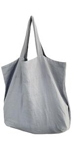 Leinentasche groß grau hell Natur nachhaltig Europa höchste Qualität Einkauf Shopping Bag elegant
