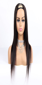 U part straight wig