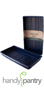 Handy Pantry garden growing trays bpa free recyclable plastic for wheatgrass and seed sprouting
