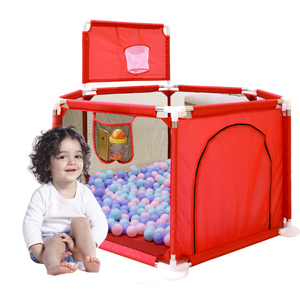 Not Includes Balls Portable Toddlers Indoor Outdoor Baby Play House Children Safety Play Yard Fun Activities Popular Toys Gaorui Kids Baby Ball Pit Playpen Red