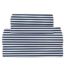 blue stripe sheet set