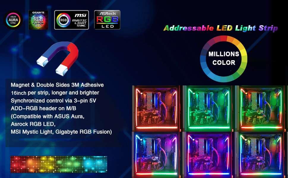 NEON Digital-RGB LED Strip for PC