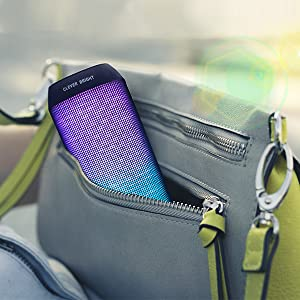 Small,save the space,speaker only 18.50*7.50*6.50 CM, packed in your bag carrying outdoors