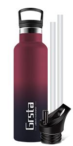botella termica con pajita