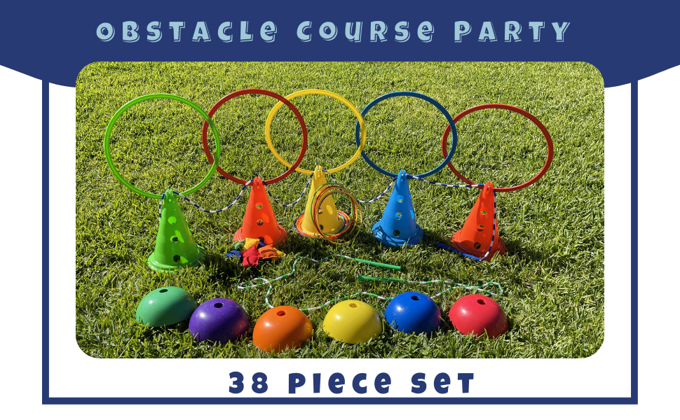Obstacle Course Party Logo