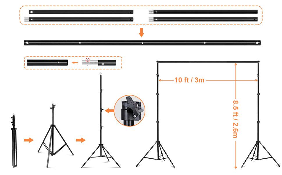背景支架 背景支架支撑系统