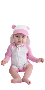 18-24 Month, Pink Cuddle Club Funzies Baby Bunting Fleece Hooded Romper Bodysuit