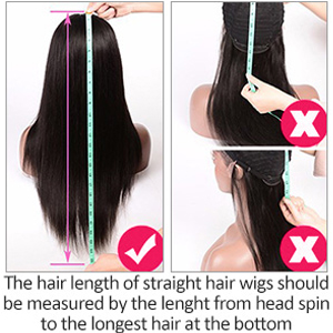 How to measure the human hair lace front wigs?