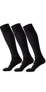 3 Pair Men Knee High Cotton Socks Unisex Sports socks