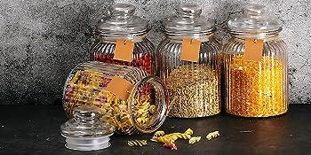 Bocal de conservation en verre pour bonbons.