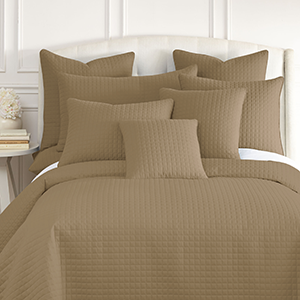 Taupe Quilted Shams