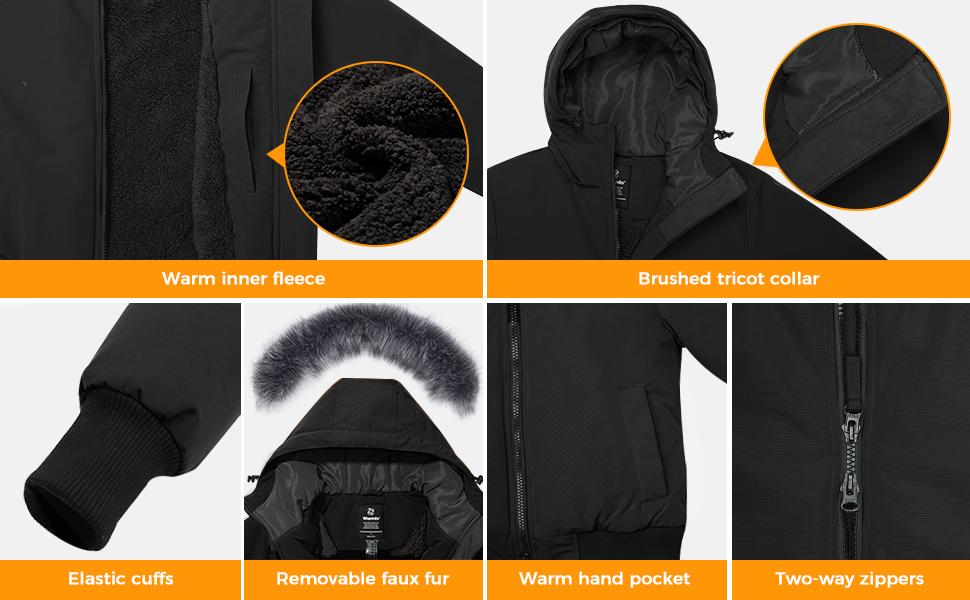 Wantdo Women Thicken Winter Coat