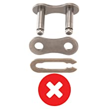 Old style 3-piece bicycle chain quick link