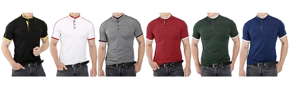 Kareas Mens Fashion Polo Shirt Casual Slim Fit Pique Short Sleeve Cotton T-Shirts