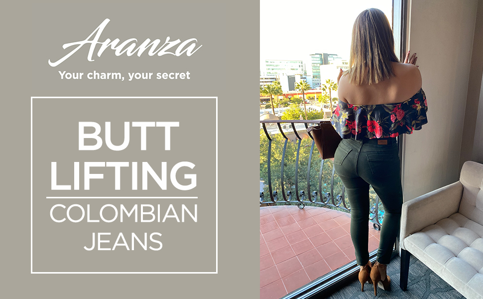Butt Lifting Colombian Jeans For Women Butt Lift Pantalones Colombianos Levanta Cola High Waisted Green At Amazon Women S Jeans Store