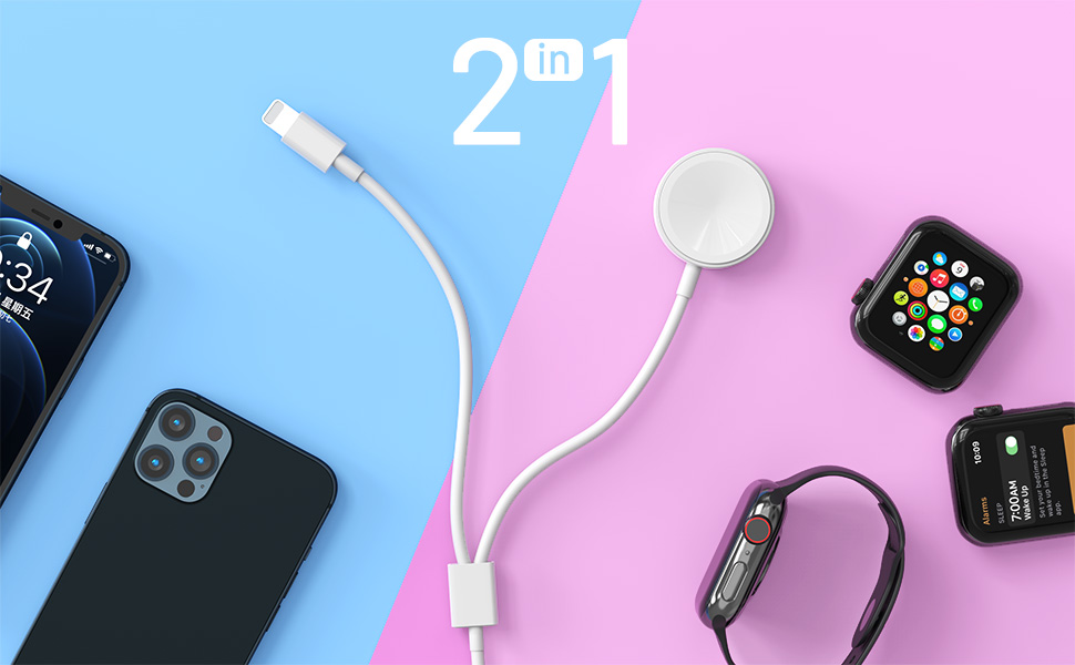2 in 1 Wireless Watch Phone Charger