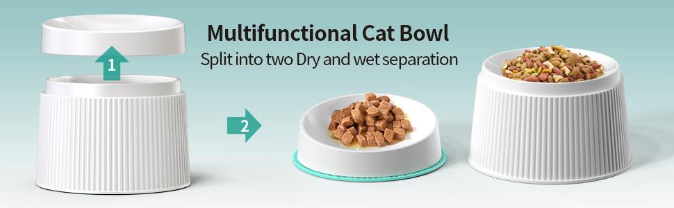 Split Multifunctional Cat Bowl