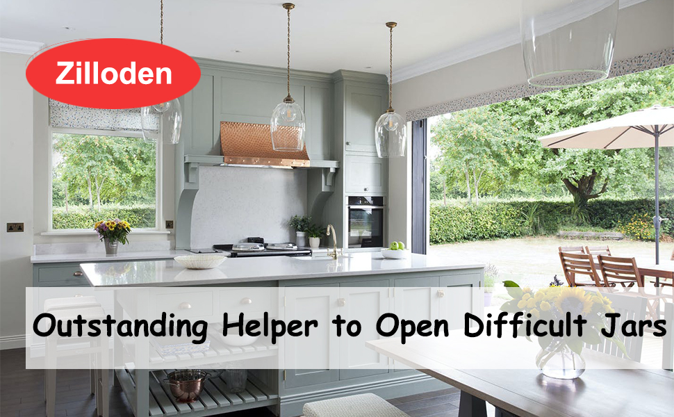 Jar Opener, 5-in-1& 6-in-1 Can Opener Bottle Opener, 4-in-1 Jar Grip Opener Non Slip Jar Gripper Pad