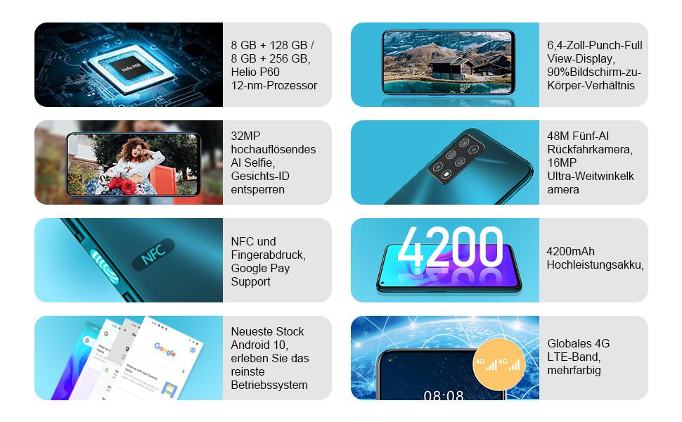 smartphone 8gb ram 128gb