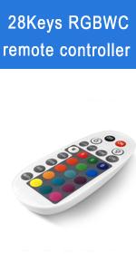 28 Keys RGBCW Remote controller