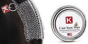 knapp, wax, cast iron, preserve, scrub