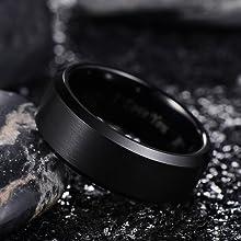 black tungsten rings for men