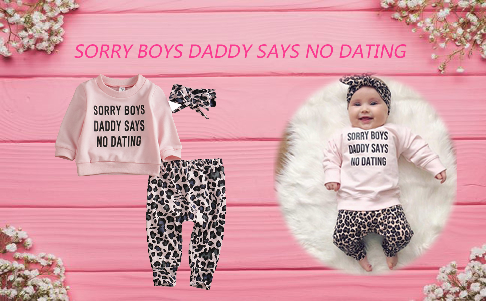 baby girl clothes daddy saying
