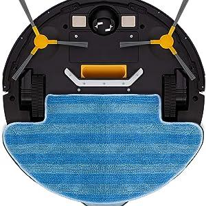IKOHS netbot S12 - Robot aspirapolvere, Scopa, Aspira, Passa Il Panno E Lava Il Pavimento, Adatto a Pavimenti, navegación inteligente, Ricarica Automatica, controllo Telecomando (Nero antracite)
