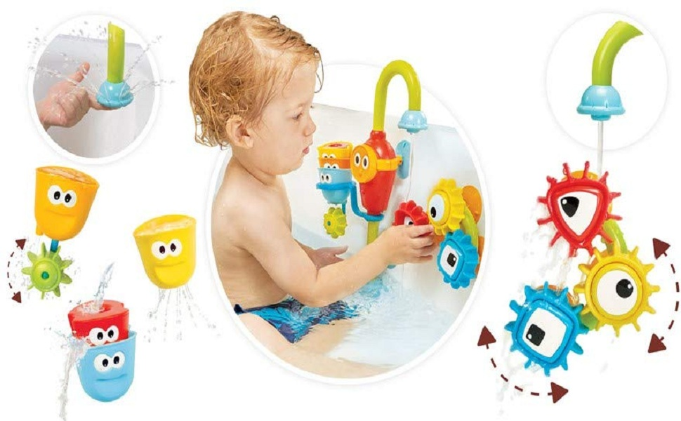 Shower Spray Toys for Toddler Kids Water Shower Bathtub Toy with Stackable and Nesting Cups for Kids Baby from 18 Months /& Barwa Bath Toy for Babies
