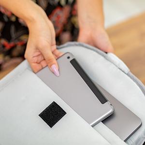 Laptopfach Rucksack gepolstert Khalisia Damen Rucksack rosa Daypack Fahrradtasche Business Reise
